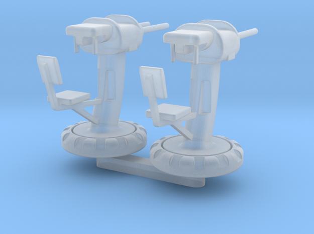 Twin Machine Gun Set in Smooth Fine Detail Plastic