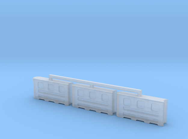 Plastic Road Barriers in Smooth Fine Detail Plastic
