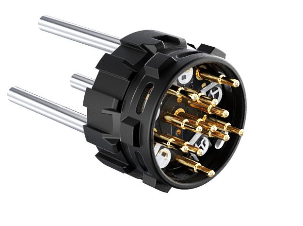 "7/8"" HILT NPXL Pogo Connector Holder LONG in Black Natural Versatile Plastic"