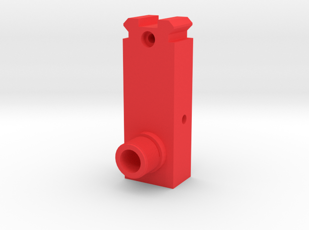 MP5 Front Sight Replacement with 14mm- Nozzle in Red Processed Versatile Plastic