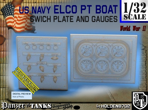 1/32 PT Boat Swich Plate and Gauges