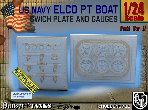 1/24 PT Boat Swich Plate and Gauges