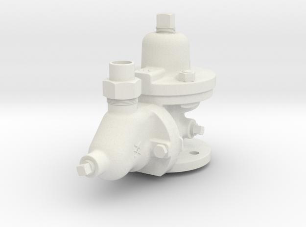 3.75 Scale K-1 Triple Valve  in White Natural Versatile Plastic