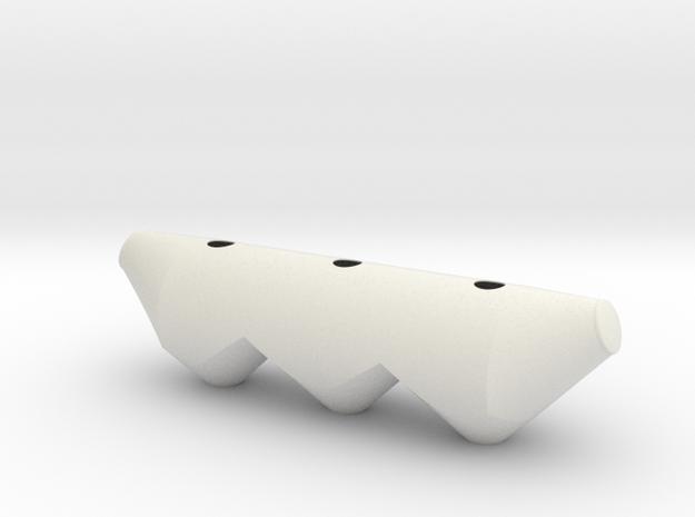 North America Dry Bulk Tank 1:24 in White Natural Versatile Plastic