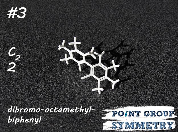 #3 C2 dibromo-octamethyl-biphenyl in White Natural Versatile Plastic