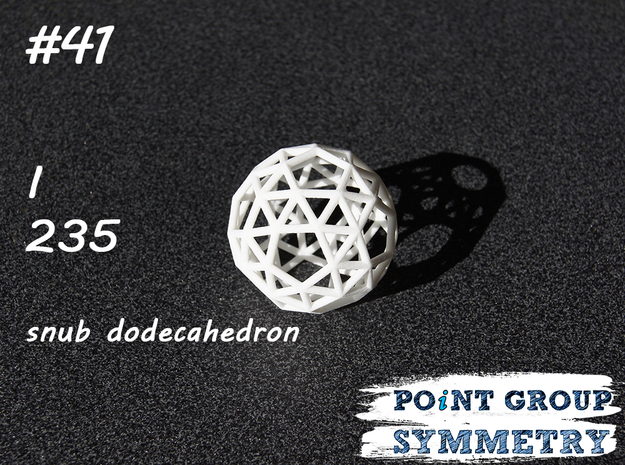 #41 I snub dodecahedron in White Natural Versatile Plastic
