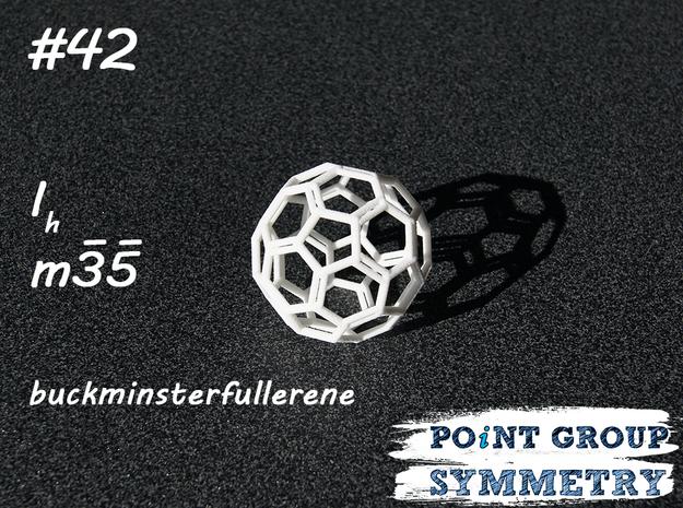 #42 Ihbuckminsterfullerene in White Natural Versatile Plastic