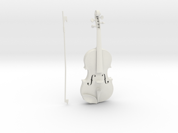 1/3rd scale Violin in White Natural Versatile Plastic