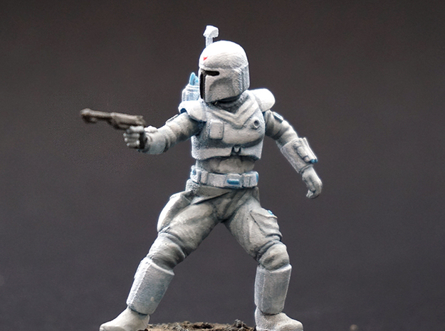 Conceptual Hunter in Smoothest Fine Detail Plastic