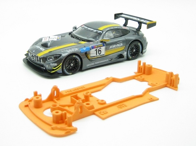 PSCA00102 Chassis for Carrera AMG GT3 Digital in Orange Processed Versatile Plastic