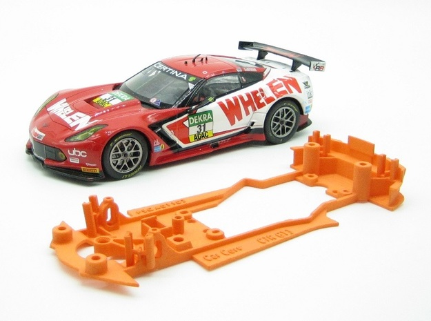 PSCA01102 Chassis for Carrera Corvette C7R GT3 Dig in White Natural Versatile Plastic