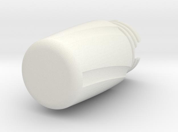 120 Film Case in White Natural Versatile Plastic