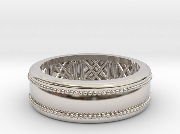 Enigma Geometrico in Rhodium Plated Brass