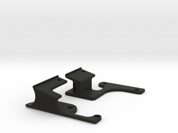 Commodore Ultimate64 64c Keyboard Mounts in Black Natural Versatile Plastic
