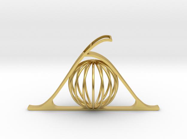 Key of Telepathy in Polished Brass