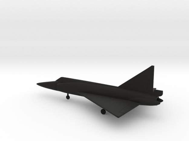 Convair F-102A Delta Dagger in Black Natural Versatile Plastic: 1:200