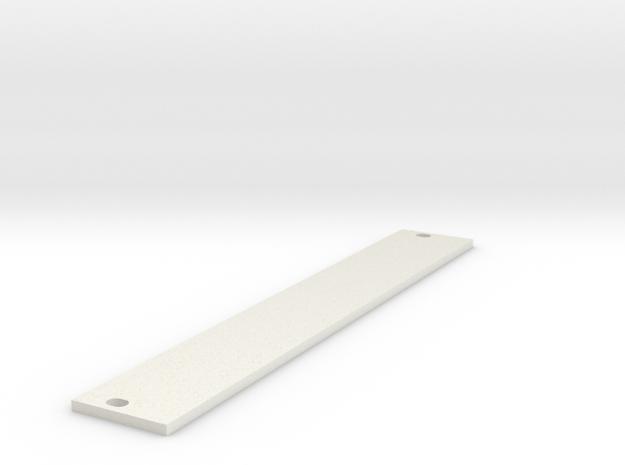 Eurorack Blank Panel 4HP in White Natural Versatile Plastic