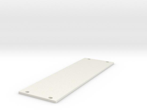 Eurorack Blank Panel 8HP in White Natural Versatile Plastic