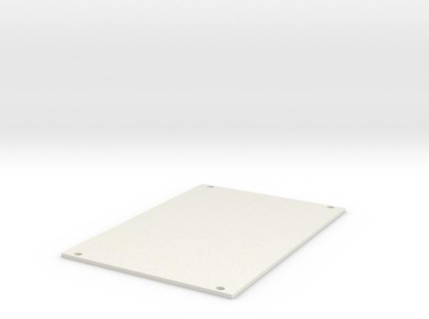 Eurorack Blank Panel 18HP in White Natural Versatile Plastic