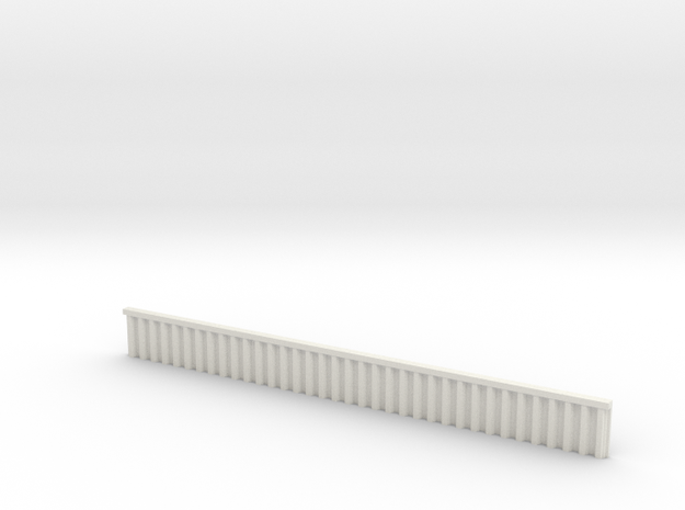 1:285 Quay Wall Sheet Piling H15mm in White Natural Versatile Plastic