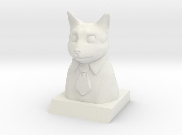 Business Cat in White Natural Versatile Plastic