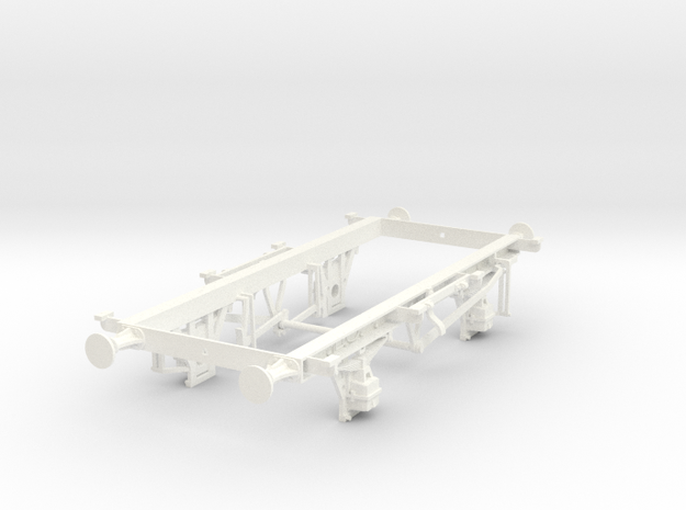 1/32 scale 16t mineral unbraked chassis in White Processed Versatile Plastic