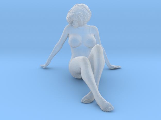 Female Bikini Sitting Ground in Smoothest Fine Detail Plastic: 1:64 - S