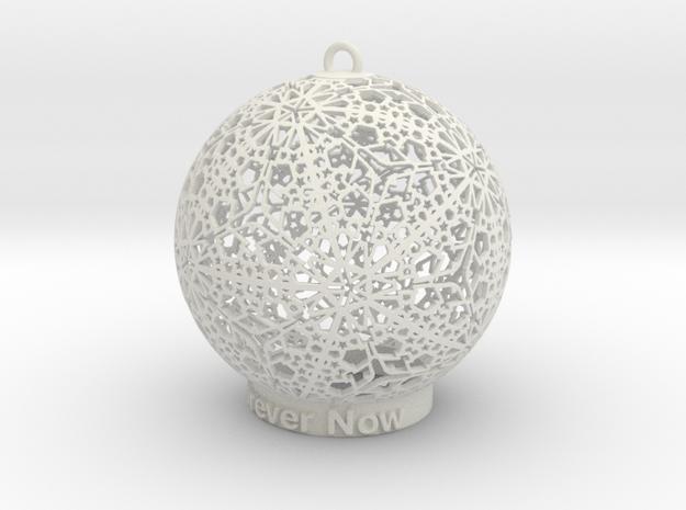 Tree Ornament 3 in White Natural Versatile Plastic: Small
