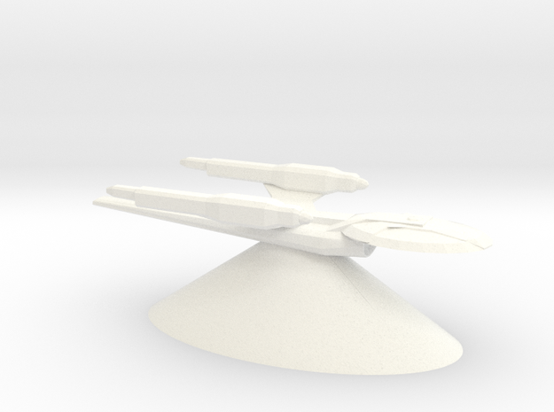Federation of Planets - Aegian in White Processed Versatile Plastic