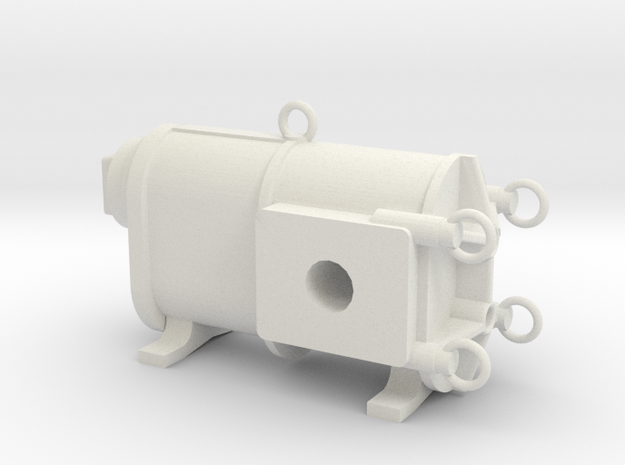 Huesker-Kloos-Pumpe in White Natural Versatile Plastic