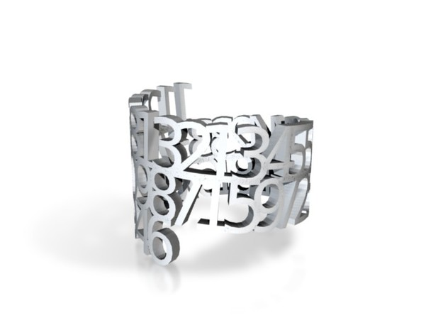 Ring Poem - 50 digits of fibonacci sequence in White Strong & Flexible