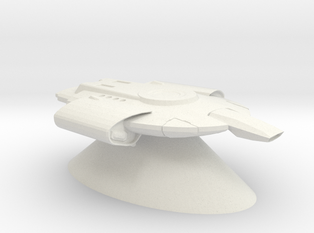 Federation of Planets - Defiant in White Natural Versatile Plastic