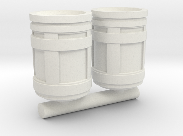 1/87 Scale SYFY Barrels in White Natural Versatile Plastic