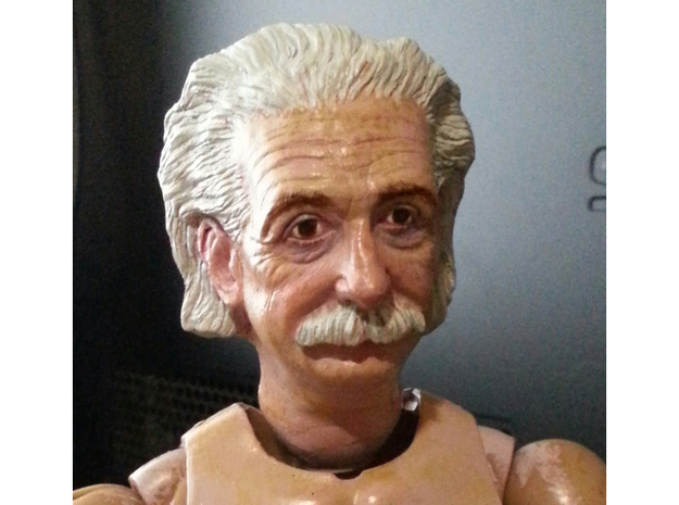 1:6 scale hallow einstein head in Smooth Fine Detail Plastic