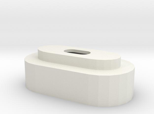 Batteriedeckel LiIon 2S V in White Natural Versatile Plastic