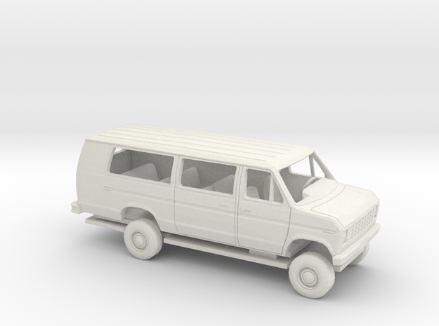 1/43 1975 -91 Ford E Van Ext Sliding Side Door Kit in White Natural Versatile Plastic