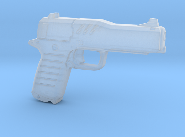 cyberpunk - near future pistol in 1/6 scale in Smooth Fine Detail Plastic