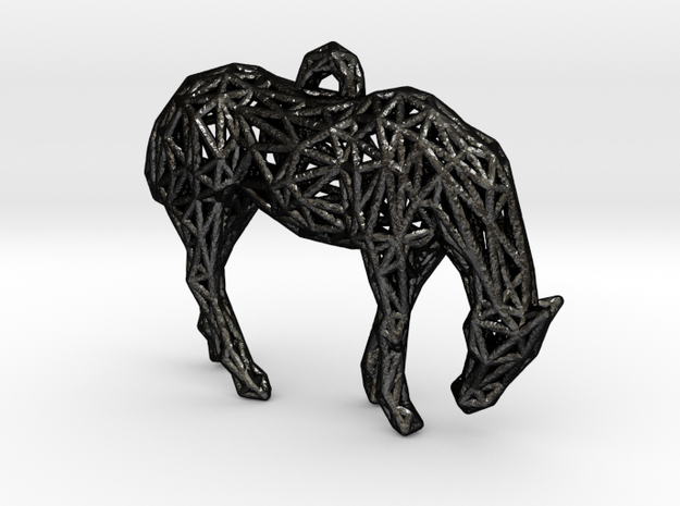 Horse Cage in Matte Black Steel