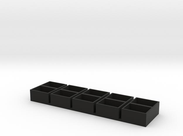 dual  long 13x18x9.5 speaker box qty5 in Black Natural Versatile Plastic