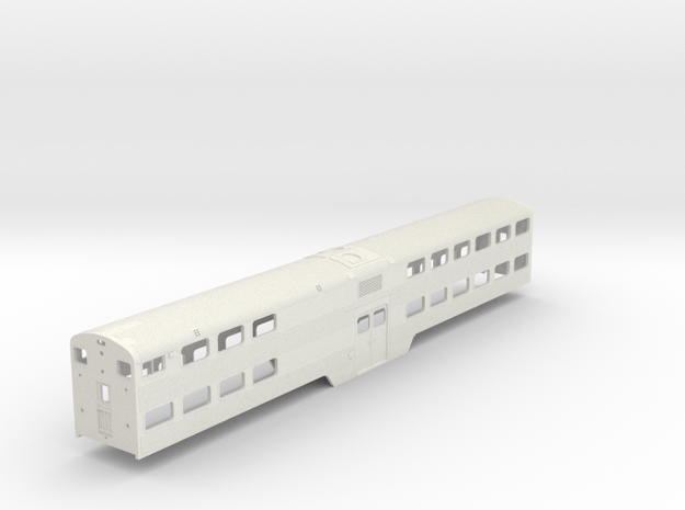 HO Scale Metra Nippon Sharyo Cab Coach  in White Natural Versatile Plastic