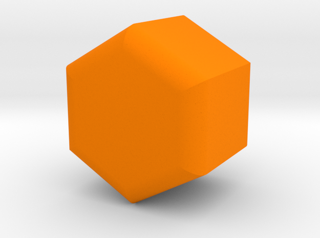 Pumpkin Vase in Orange Processed Versatile Plastic