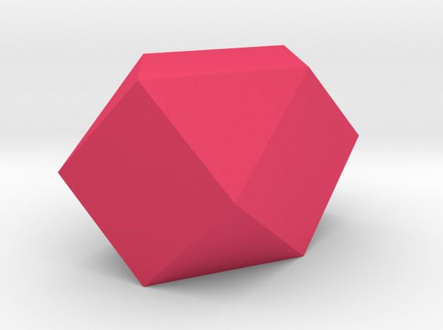 Enlongated Tridecagon Vase in Pink Processed Versatile Plastic