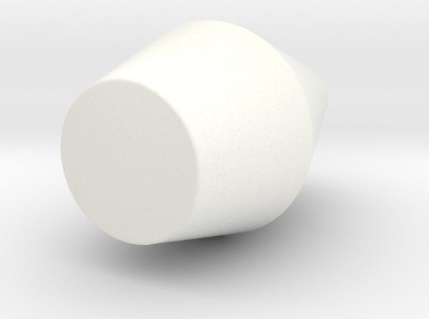 Rounded Mirror Cone Vase in White Processed Versatile Plastic