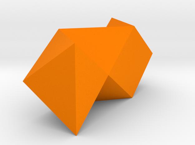 Triangular Stacked Vase in Orange Processed Versatile Plastic
