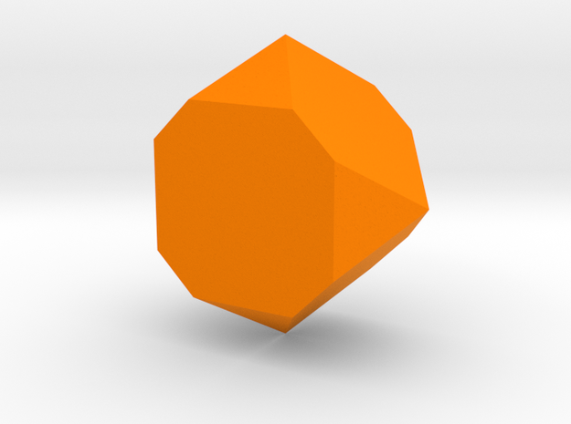 Faceted Box Planter in Orange Processed Versatile Plastic