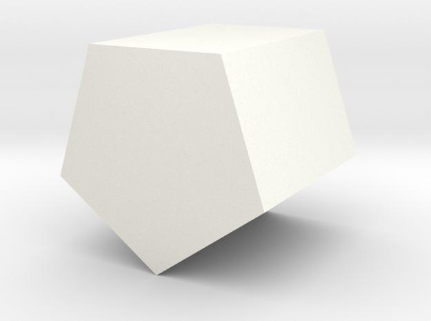 Simple Pentagonal Planter in White Processed Versatile Plastic