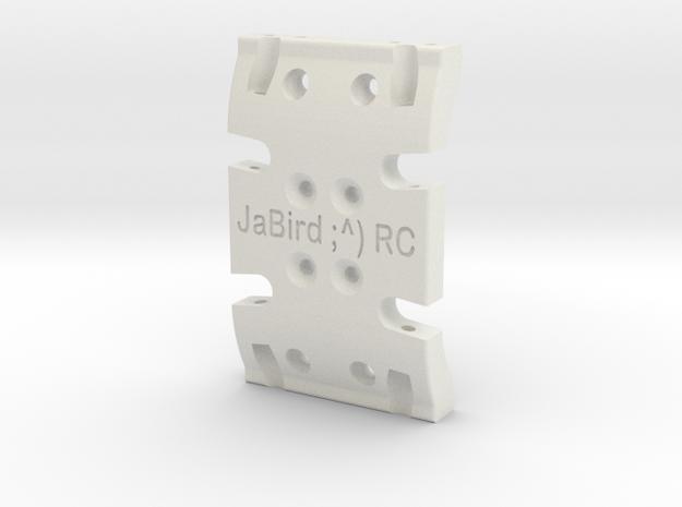 JaBird RC Skid Plate - SCX10 in White Natural Versatile Plastic