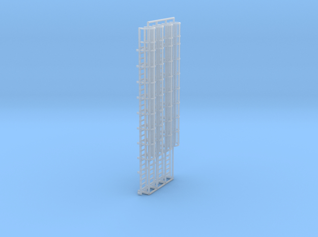 1:100 Cage Ladder 93mm Top in Smooth Fine Detail Plastic