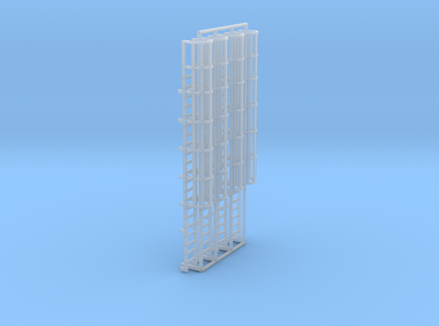 1:100 Cage Ladder 67mm Top in Smooth Fine Detail Plastic