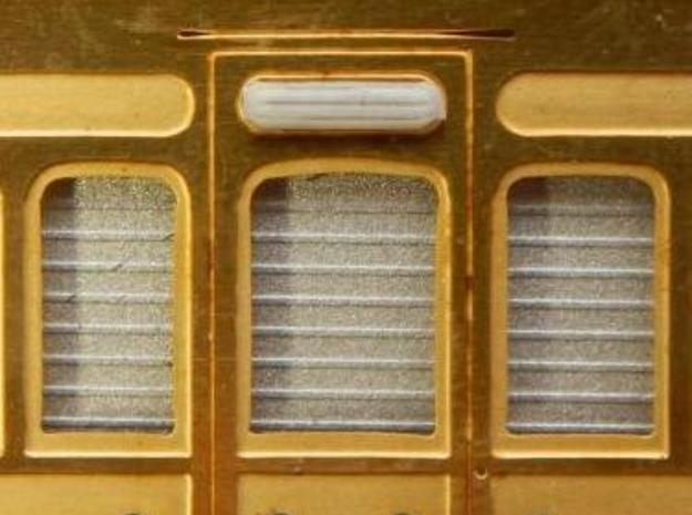 Door vents for GER coaches of the 1870s in Smooth Fine Detail Plastic: 1:76 - OO